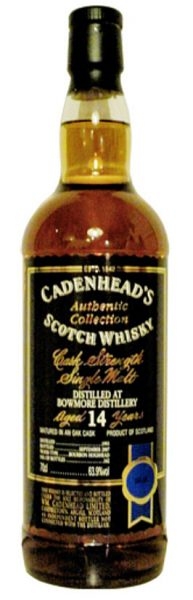 Bowmore 14y 93-07 Cadenhead's Authentic Collection Bourbon cask 162btl - 63,9%