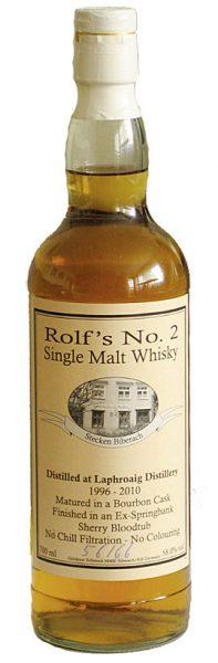 Laphroaig 96-10 WF Rolf's No. 2 Ex-Springbank Sherry Bloodtub Finish 66btl - 58%