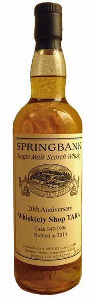 Springbank ~18y 96-14 OB for 20y Tara Whisky Shop Bourbon Cask 147 - 58,4%