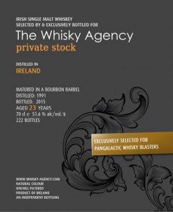 Irish Single Malt 23y 91-15 TWA for PGW Bourbon Barrel 222btl - 51,6%