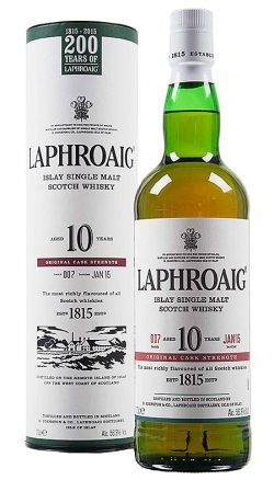 Laphroaig 10y 2015 OB cask strength batch 007 Jan.15 – 56,6%