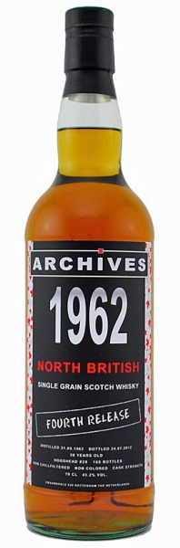 North British 50y 62-12 Archives Fourth Release Hogshead #29 168btl - 45,2%
