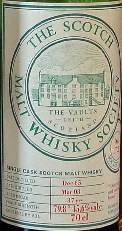 Scapa 37y 65-03 SMWS 17.24 Cherry lips and stately homes 65btl - 45,6%