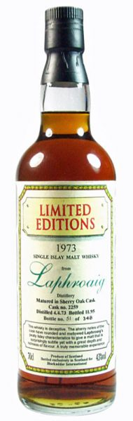 Laphroaig 22y 73-95 Blackadder Sherry Wood Cask 2259 348btl - 43%