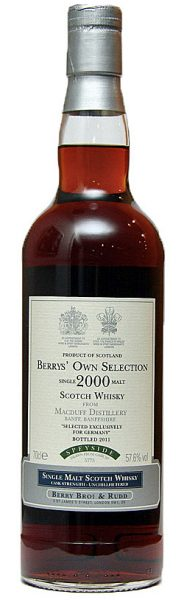 Macduff 11y 00-11 BBR for Germany Berrys' Own Sel, Fresh Sherry #5775 - 57,6%