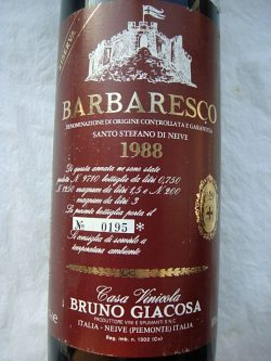 """1988 Barbaresco Riserva """"Santo Stefano di Neive"""""""