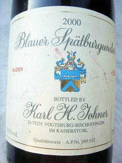 2000 Blauer Spätburgunder SJ