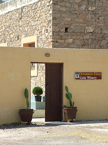 Weingut Gaia auf Santorini