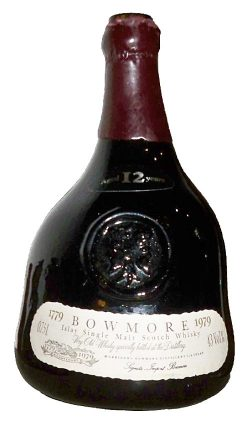 Bowmore 12y OB Bicentenary for Germany 1979 ceramic jug 12yo label 75°Proof - 43%