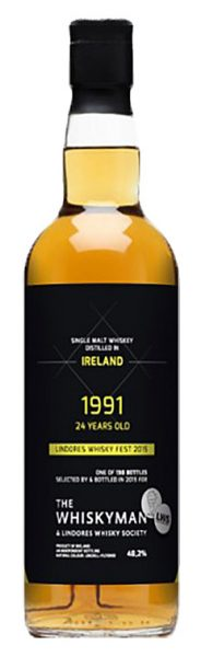 Irish Single Malt 24y 91-15 Whiskyman for Lindores Whisky Society 130btl - 48,2%