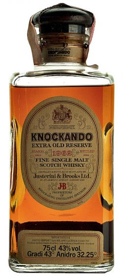 Knockando 21y 62-84 OB Justerini Extra Old Res. Square Decanter 75cl - 43%