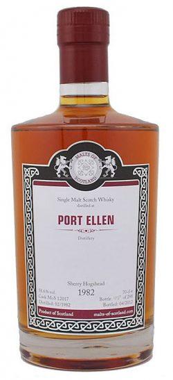 Port Ellen 30y 82-12 MoS Sherry Hogshead Cask 12017 298btl – 58,6%