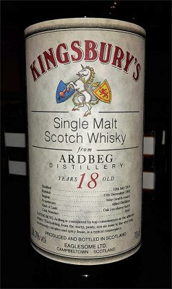 Ardbeg 18y 74-92 Kingsbury Ex-Sherry Butt #3345 - 58,3%
