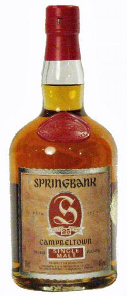 Springbank 25y 70-95 Dumpy bottle Red label 95/317 - 46%
