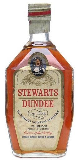 Stewarts Dundee ~1970er De Luxe Blend cream of the barley over 20yo - 75°P - 43%