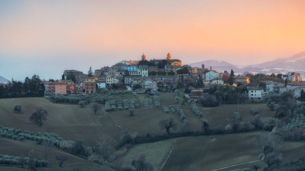 Blick auf Morro d'Alba