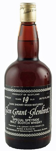 Glen Grant 19y Cad. Dumpy Bottle Dark Sherry Wood 26 2/3 Oz - 46%
