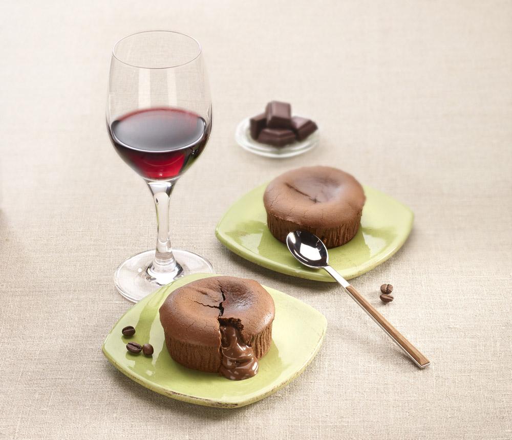 Lauwarmer Schokoladenkuchen zu Rotwein | Foto: ©CIVB