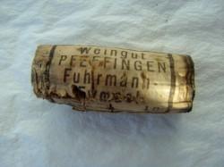 1989 Ungsteiner Herrenberg Scheurebe Auslese, Weingut Pfeffingen: ausgetrocknet, hart brüchig