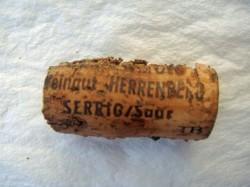 1996 Schodener Herrenberg Riesling Spätlese, Weingut Herrenberg: zu klein, ausgetrocknet, nicht mehr abdichtend