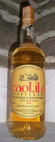 Caol Ila 12y ~1968-80 OB for Zenith/Bonfanti Bulloch Lade caoLiLa Oval Label - 43%