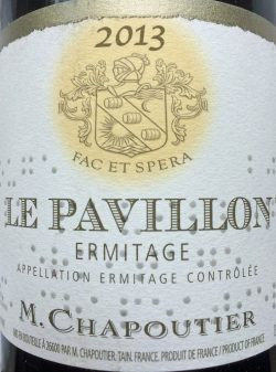 """2013 Ermitage """"Le Pavillon"""", M. Chapoutier"""