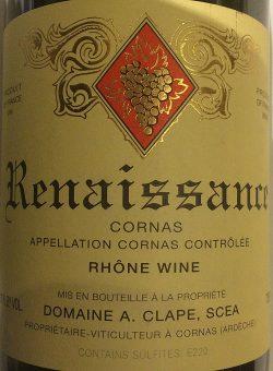 """2013 Cornas """"Renaissance"""", Auguste Clape"""