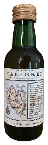 Talisker 10yo ~1986 OB Old label map – Pre Classic Malt Mini 5cl SC994 - 45,8%