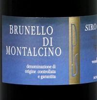 Etikett Brunello di Montalcino