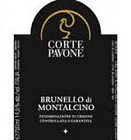 Etikett Brunello di Montalcino, Corte Pavone