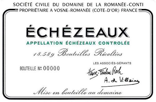 Etikett Echézeaux Grand Cru