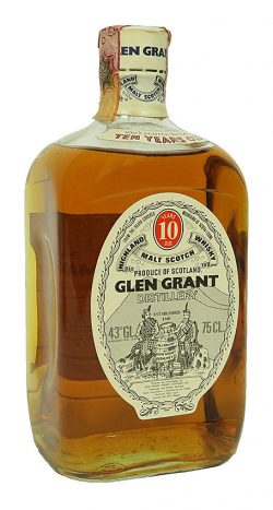 Glen Grand 10y ~1970er Giovinetti, square bottle short neck white cap 75cl - 43%
