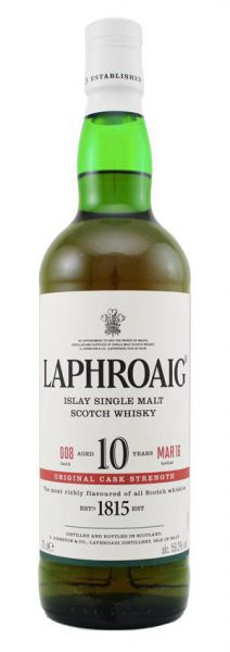 Laphroaig 10y - 2016 - OB, cask strength batch 008 Mar.16 - Oak Barrels - 59,2%