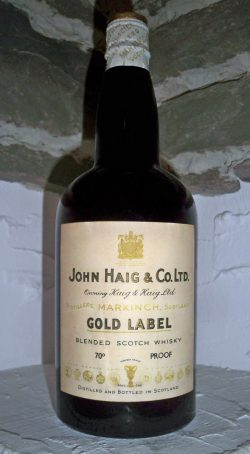 John Haig ~1940er Gold Label King George VI 70°Prf 0,757L - 40%
