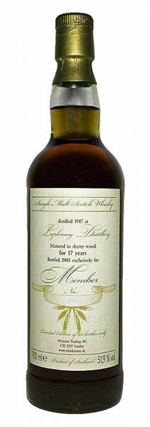 Laphroaig 17y 87-05 Monnier Memberabfüllung Sherry Wood 271btl - 51,9%