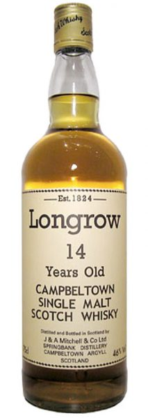 Longrow 14y ~1970er OB, Screw cap, White letter label 75cl - 46%