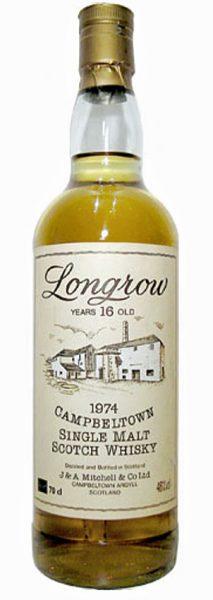 Longrow 16y 1974 OB Screw cap, Distillery label 75cl - 46%