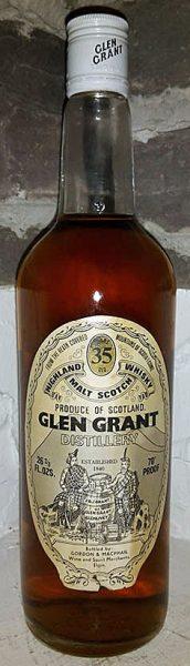 Glen Grant 35y ~35-70 G&M Lic. Bot. 26 2/3floz 70°proof White Screw Cap - 40%