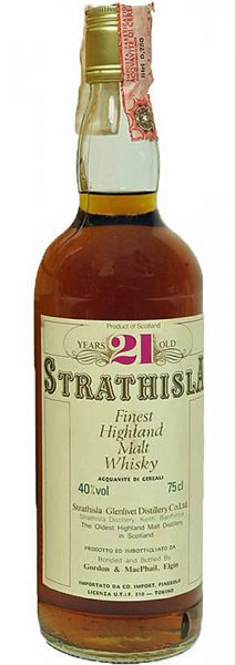 Strathisla 21y ~1980 G&M Finest Highland Malt SC999 Pinerolo Import - 40%