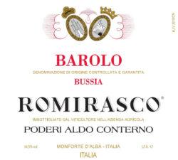 2011 Barolo Bussia Romirasco, Aldo Conterno