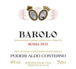 2013 Barolo Bussia, Aldo Conterno