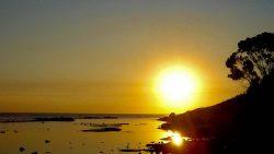 Sonnenuntergang an der Côte d'Afrique