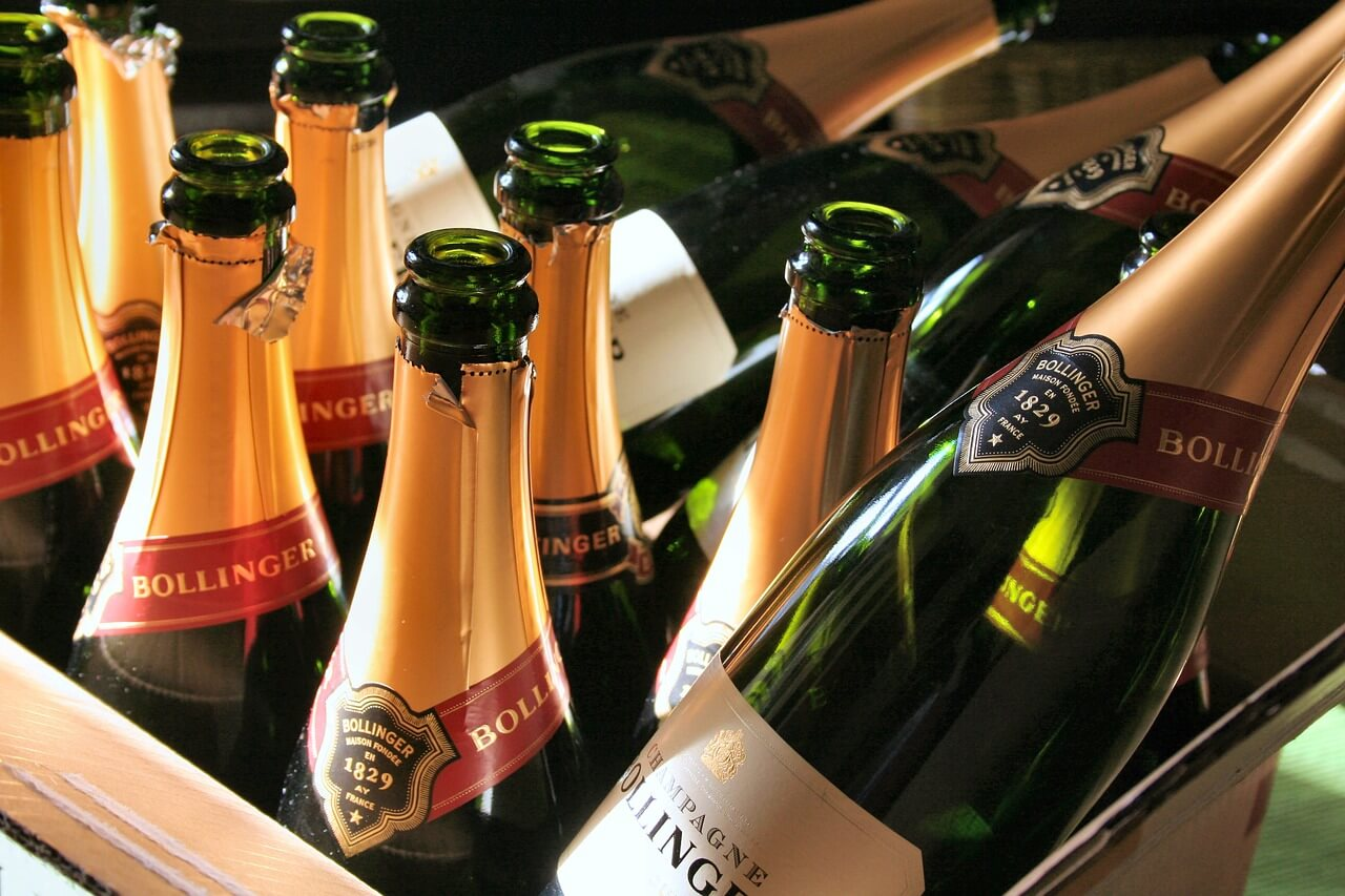 Bollinger Champagner Flaschen