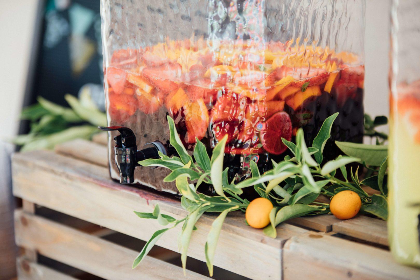 Cocktails mit Sekt Wein Sangria
