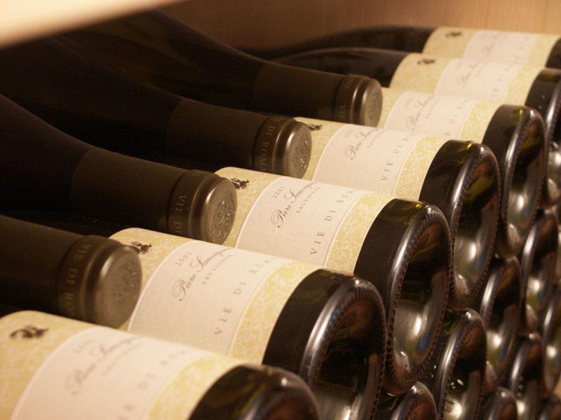 Ein Blick ins Flaschenlager