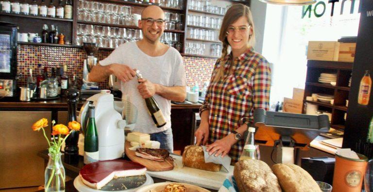 Die Inhaber der Weinbar Rheinton in Düsseldorf