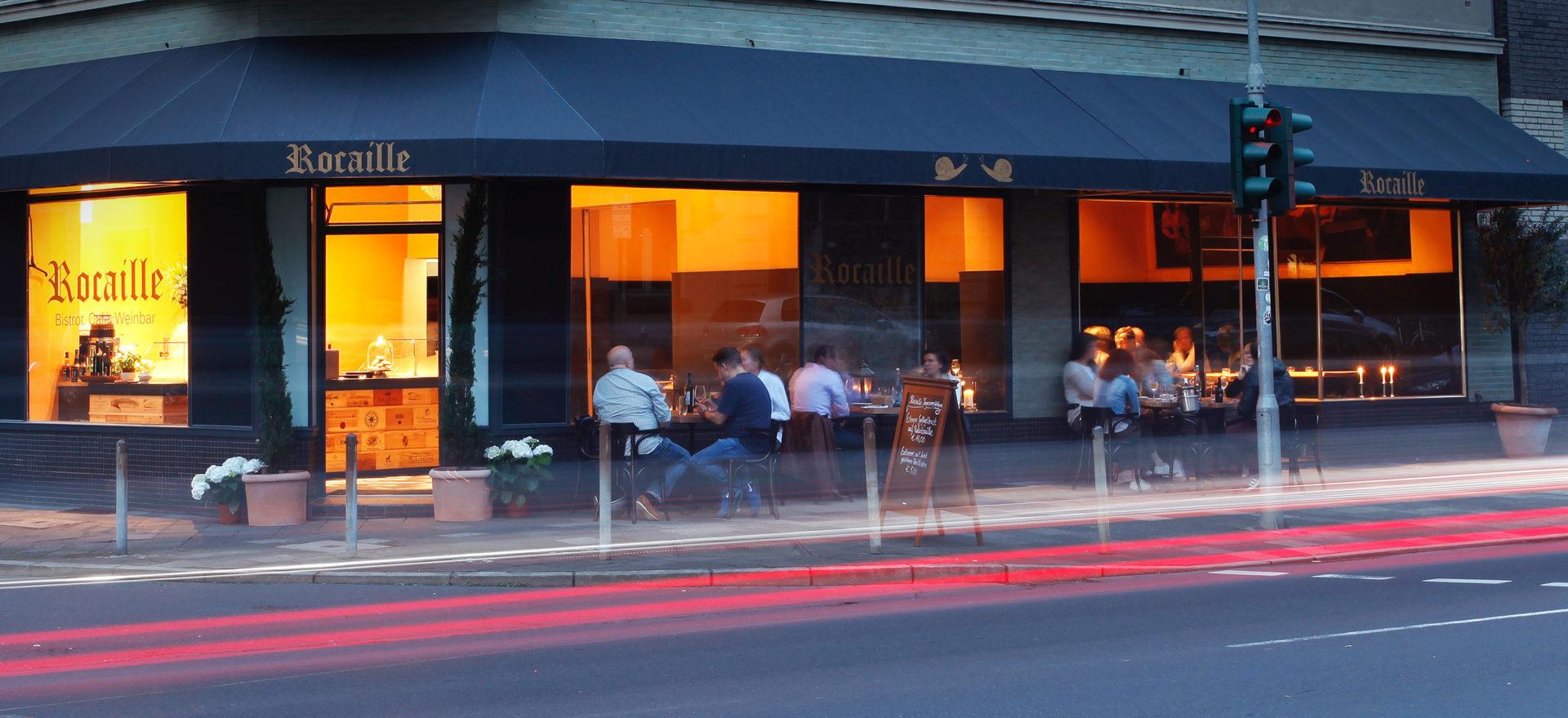 Die Rocaille Weinbar in Düsseldorf von außen