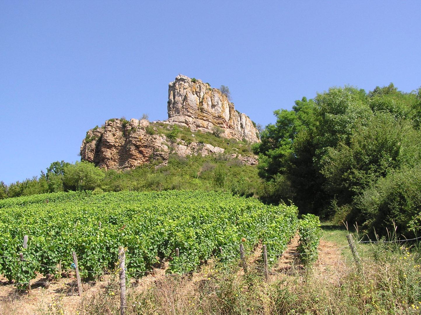 Solutré Felsen im Burgund