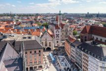 Die Skyline von München