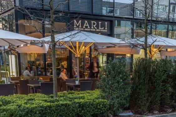 Die Weinbar Marli in Düsseldorf von außen